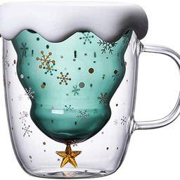 Cute Mugs Christmas Coffee Mug, Tea Cup, Milk Cup Glasses Double Wall Insulated Glasses Espresso ... | Amazon (US)