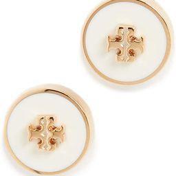 Tory Burch Women's Kira Enamel Circle Stud Earrings | Amazon (US)