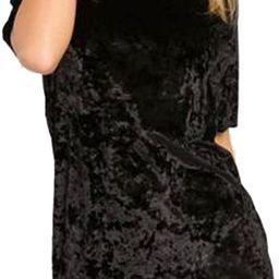 R.Vivimos Women's Summer Short Sleeve Crushed Velvet Mini Short Dresses | Amazon (US)