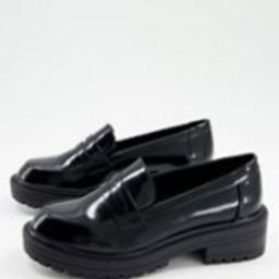 New Look - Loafers met dikke zool in zwart | ASOS | ASOS (Global)