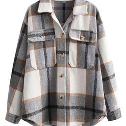 'Izzy' Plaid Oversized Shirt Jacket | Goodnight Macaroon