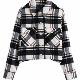 'Zoey' Plaid Button Down Short Jacket | Goodnight Macaroon