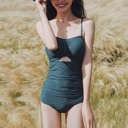 Set: Cut-Out Swimsuit + Cover Up   YesStyle Global