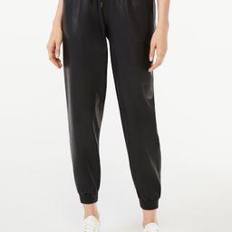 Scoop Women's Faux Leather Joggers | Walmart (US)