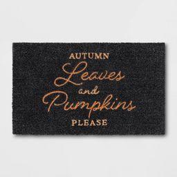 "1'6""x2'6"" Autumn Leaves Harvest Doormat Black - Threshold™   Target"