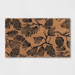 """1'6""""x2'6"""" Pine Coir Inline Doormat Tan/Black - Threshold™   Target"""