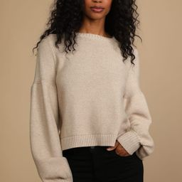 Catch You Later Taupe Balloon Sleeve Sweater   Lulus (US)