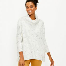 Flecked Pocket Poncho Sweater | LOFT
