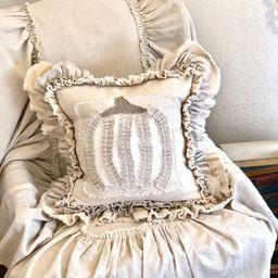 Custom Pillow Case with Ruffled PumpkinHandmade PillowFrench | Etsy | Etsy (US)