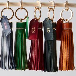 Oversized Leather Tassel Keychain | Mark and Graham