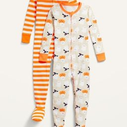 Unisex 2-Pack Footie Pajama One-Piece for Toddler & Baby | Old Navy (US)