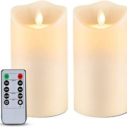 """Homemory 6"""" x 3.25"""" Outdoor Waterproof Flameless Candles, Flickering Moving Flame LED Candles... 