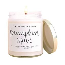 Sweet Water Decor Pumpkin Spice Candle | Autumn, Vanilla, and Buttercream, Fall Scented Soy Candl... | Amazon (US)