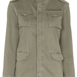 stand-up collar military jacket | Farfetch (US)