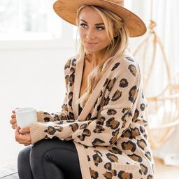 Playful Personality Beige/Black Animal Print Cardigan   The Pink Lily Boutique