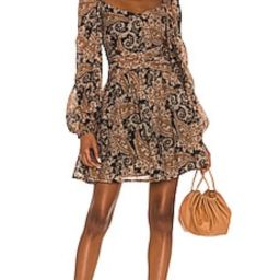 MINKPINK Persian Paradise Mini Dress in Black & Brown from Revolve.com | Revolve Clothing (Global)