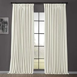 HPD Half Price Drapes VPCH-VET1219-96 Signature Extra Wide Velvet Blackout Curtain (1 Panel), 100 X    Amazon (US)