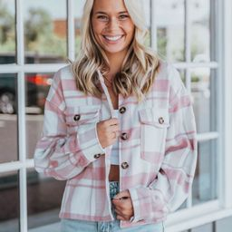 Trendy Moment Pink Shacket   Apricot Lane Boutique