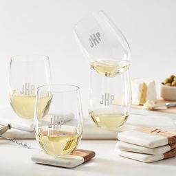 Acrylic Stemless Wine Glasses, Set of 4   Mark and Graham