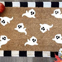 Ghost Doormat  Seasonal Decor  Spooky Season  Halloween  | Etsy | Etsy (US)