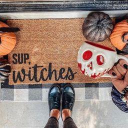 Sup Witches Halloween doormat Halloween Doormat pumpkin | Etsy | Etsy (US)