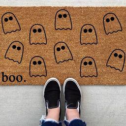 Boo Ghost Halloween doormat Halloween Doormat pumpkin fall | Etsy | Etsy (US)