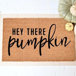 Hey There Pumpkin Doormat Fall Welcome Mat Fall Decor Funny | Etsy | Etsy (US)