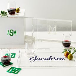 Etched Acrylic Tray   Mark and Graham