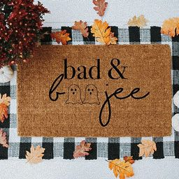 Bad and Boojee Halloween Doormat Fall Doormat Fall Decor | Etsy | Etsy (US)