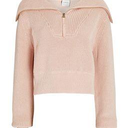 Mentone Half-Zip Cotton Sweater   INTERMIX