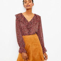 Faux Suede Seamed Skirt | LOFT