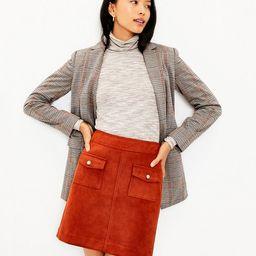 Faux Suede Pocket Skirt | LOFT