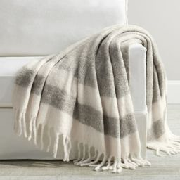 Faux Mohair Striped Throw | Pottery Barn (US)