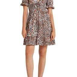 Leopard Print V-Neck Dress | Nordstrom