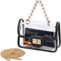 YING YUMEI Clear Purse for Women, Fashion Crossbody Clutch Handbag Cute, Small See Through Bag | Amazon (US)