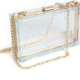 WJCD Women Clear Purse Acrylic Clear Clutch Bag, Shoulder Handbag With Removable Gold Chain Strap | Amazon (US)