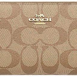 Coach Medium Zip Around Wallet in Signature Canvas (Khaki/Saddle) | Amazon (US)
