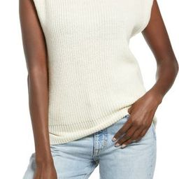 Padded Shoulder Sleeveless Sweater | Nordstrom
