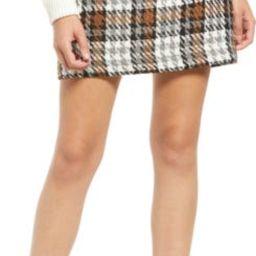 Kenso Plaid Miniskirt | Nordstrom