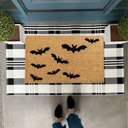 Halloween Doormat Oversized Doormat Bat Decor Fall Porch | Etsy | Etsy (US)