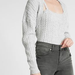 Cable Knit Sweater Shrug | Express