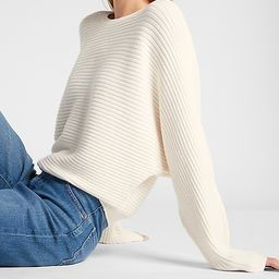 Ribbed Dolman Sleeve Sweater | Express