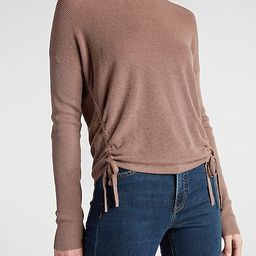 Ruched Side Tie Crew Neck Sweater | Express