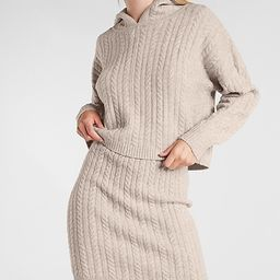 Cable Knit Hooded Sweater | Express
