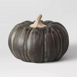 Medium Glazed Ceramic Pumpkin Black - Threshold™ | Target
