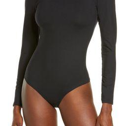 Suit Yourself Long Sleeve Mock Neck Bodysuit | Nordstrom