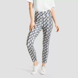 Hue Studio Women's Snake Print Mid-Rise Classic Knit Denim Jean Skimmer Leggings - Gray | Target
