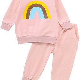 Toddler Baby Girl Clothes Fall/Autumn Winter Outfits Rainbow Long Sleeve Sweatshirts Tops Shirts ...   Amazon (US)