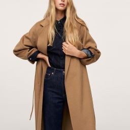Belt handmade coat   MANGO (US)
