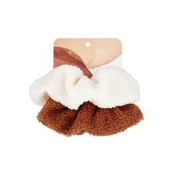 Kristin Ess Cozy Scrunchies - White/Rust - 2pk   Target